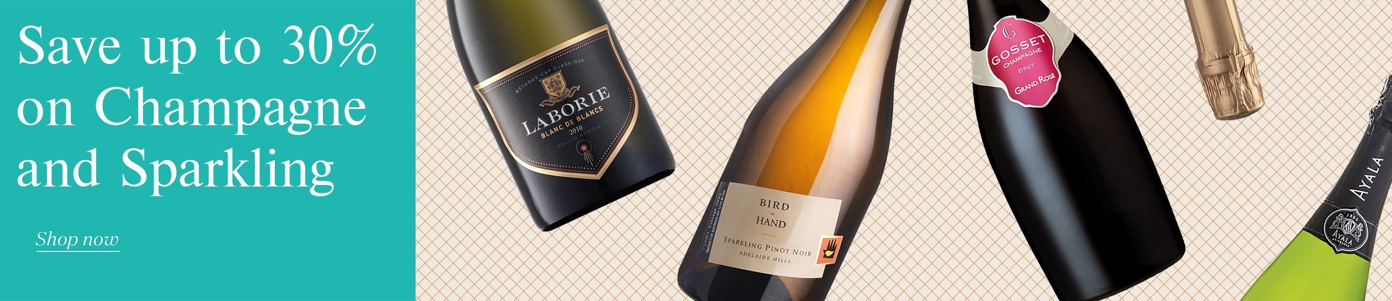 Save up to 30% on Champagne & Sparkling